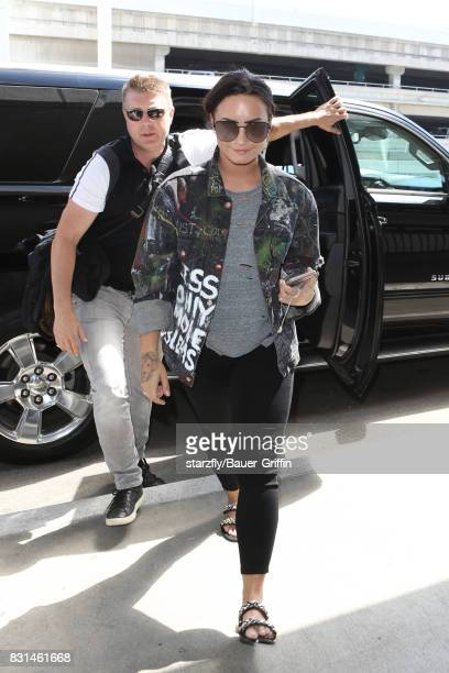 Demi Lovato is seen at LAX on August 14 2017 in Los Angeles California