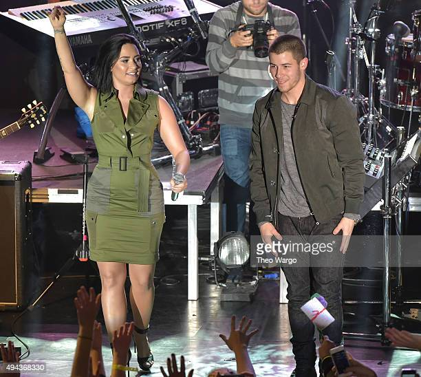 Demi Lovato Nick Jonas Future Now The Tour Preview at Irving Plaza on October 26 2015 in New York City