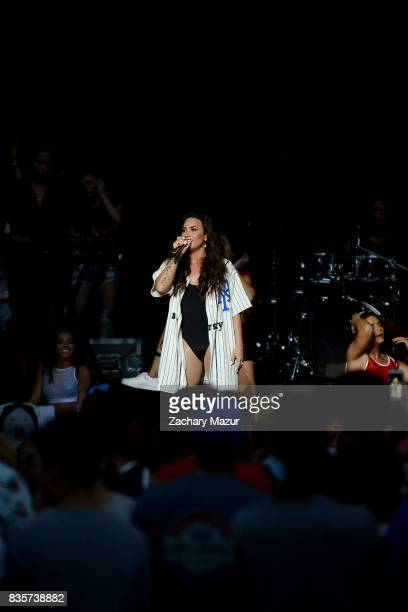 Demi Lovato performs at 2017 Billboard Hot 100 Festival at Northwell Health at Jones Beach Theater on August 19 2017 in Wantagh New York