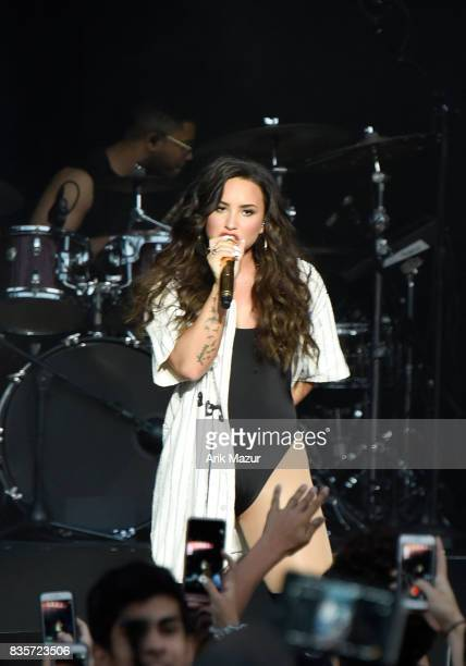 Demi Lovato performs at 2017 Billboard HOT 100 Music Festival at Northwell Health at Jones Beach Theater on August 19 2017 in Wantagh New York