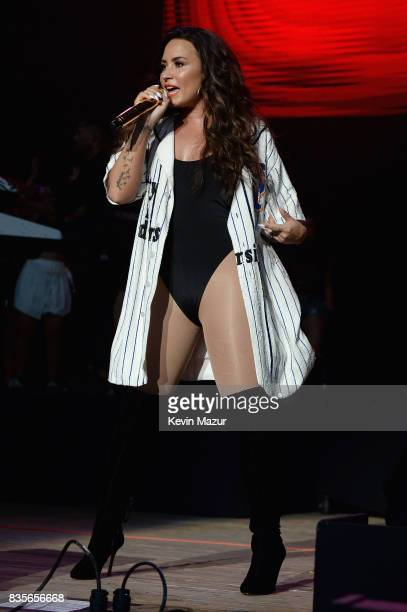 Demi Lovato performs during Day One of 2017 Billboard Hot 100 Festival at Northwell Health at Jones Beach Theater on August 19 2017 in Wantagh City