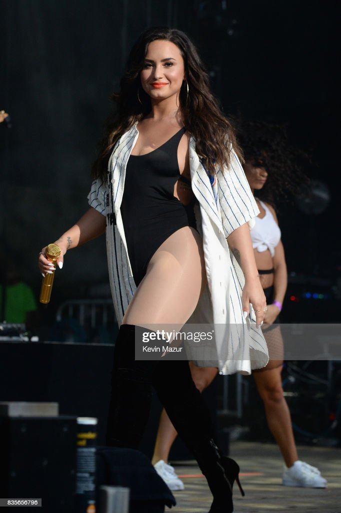 Demi Lovato performs during Day One of 2017 Billboard Hot 100 Festival at Northwell Health at Jones Beach Theater on August 19, 2017 in Wantagh City.