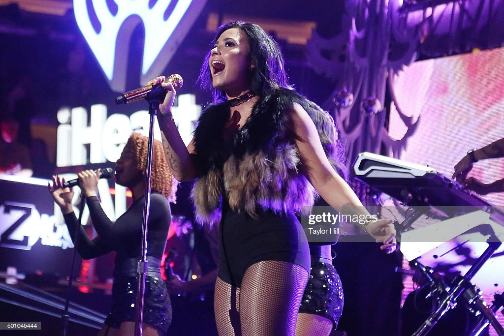 Demi Lovato performs during the 2015 Z100 Jingle Ball at Madison Square Garden on December 11, 2015 in New York City.