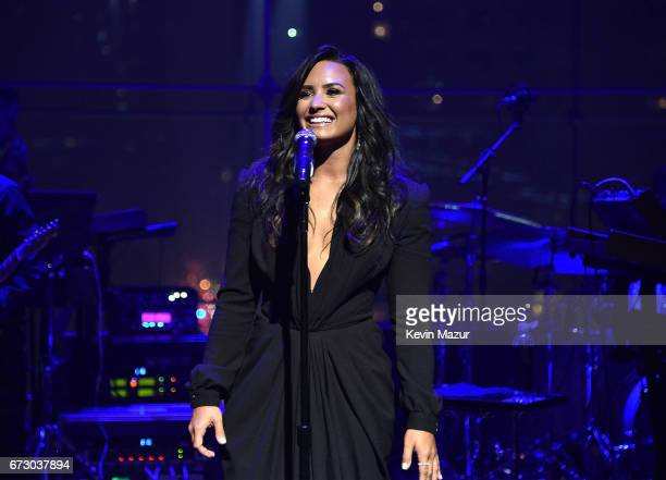 Demi Lovato performs during the 2017 Time 100 Gala at Jazz at Lincoln Center on April 25 2017 in New York City