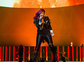 Demi Lovato performs in concert in support of her Neon Lights Tour at The Palace of Auburn Hills on March 13 2014 in Auburn Hills Michigan