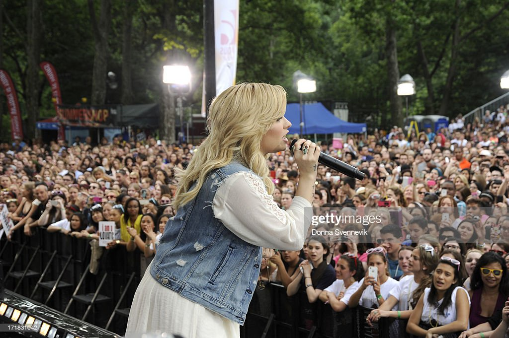 AMERICA - Demi Lovato performs live from Central Park on 'Good Morning America,' 6/28/13, airing on the ABC Television Network. (Photo by Donna Svennevik/ABC via Getty Images) DEMI