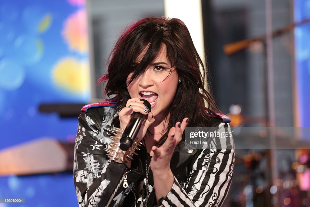 AMERICA - Demi Lovato performs live on 'Good Morning America,' 4/10/13, airing on the ABC Television Network. (Photo by Fred Lee/ABC via Getty Images) DEMI