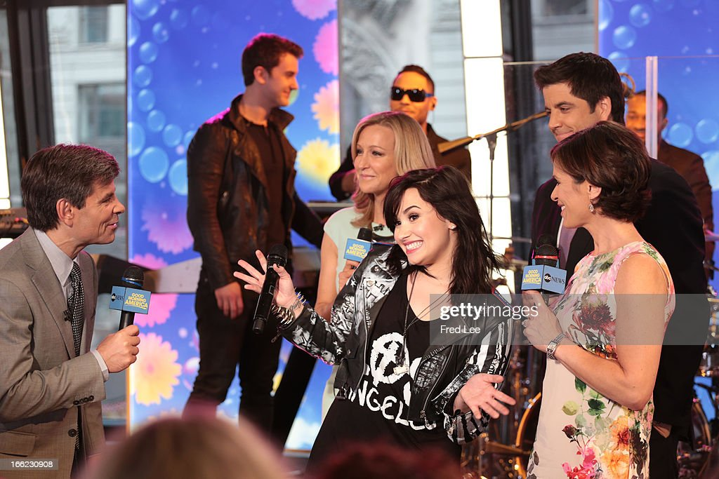 AMERICA - Demi Lovato performs live on 'Good Morning America,' 4/10/13, airing on the ABC Television Network. (Photo by Fred Lee/ABC via Getty Images) GEORGE