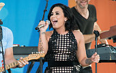 Demi Lovato performs on ABC's 'Good Morning America' at SummerStage at Rumsey Playfield Central Park on June 24 2016 in New York City