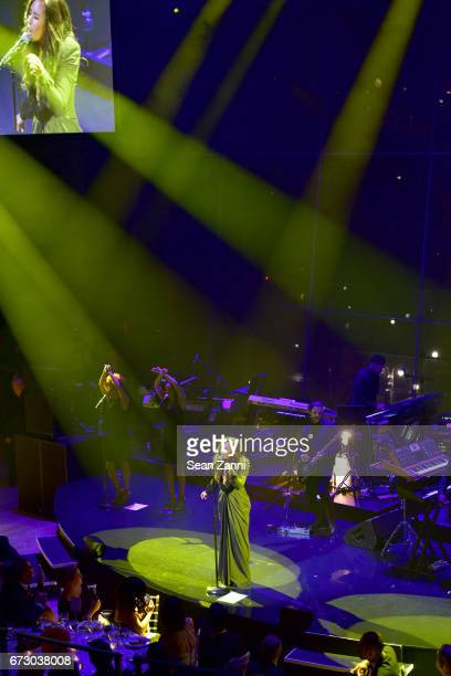Demi Lovato performs onstage at the 2017 TIME 100 Gala at Jazz at Lincoln Center on April 25 2017 in New York City