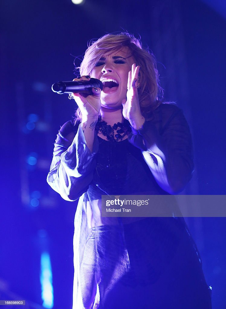 Demi Lovato performs onstage during the 2013 KIIS FM's Wango Tango held at The Home Depot Center on May 11, 2013 in Carson, California.