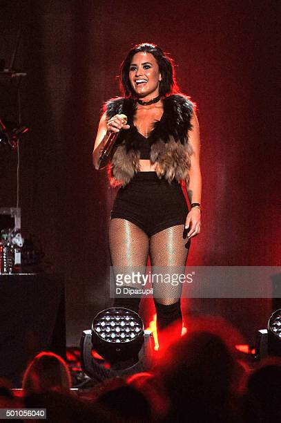 Demi Lovato performs onstage during Z100's iHeartRadio Jingle Ball 2015 at Madison Square Garden on December 11 2015 in New York City