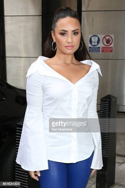 Demi Lovato seen at BBC Radio One on September 27 2017 in London England