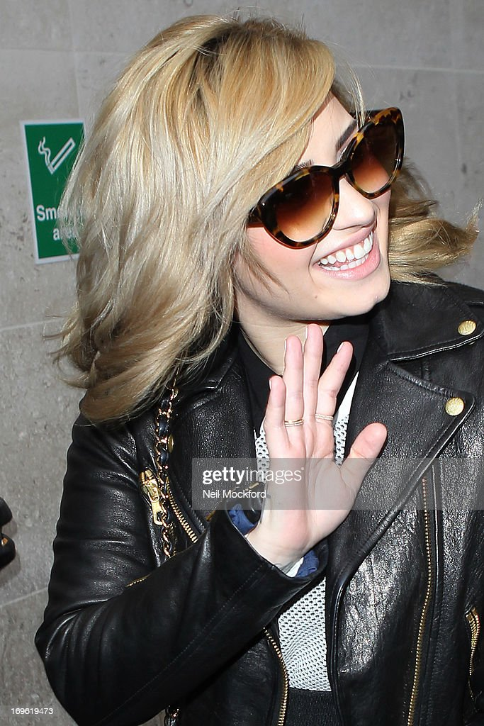 <a gi-track='captionPersonalityLinkClicked' href=/galleries/search?phrase=Demi+Lovato&family=editorial&specificpeople=4897002 ng-click='$event.stopPropagation()'>Demi Lovato</a> seen leaving BBC Radio One on May 29, 2013 in London, England.