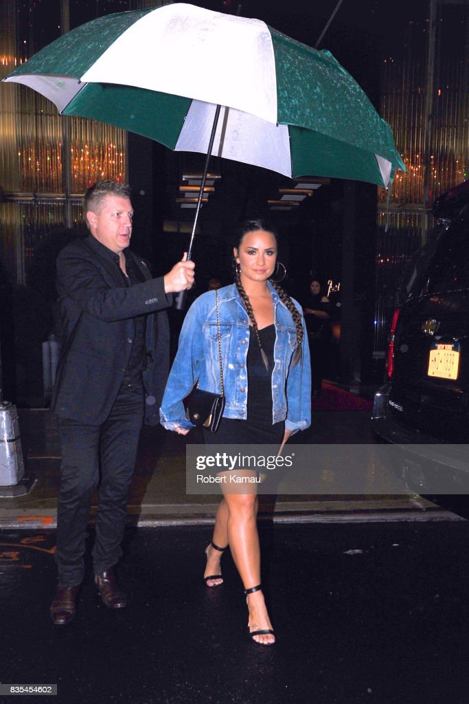 Demi Lovato steps out for a broadway show in Manhattan on August 18 , 2017 in New York City.