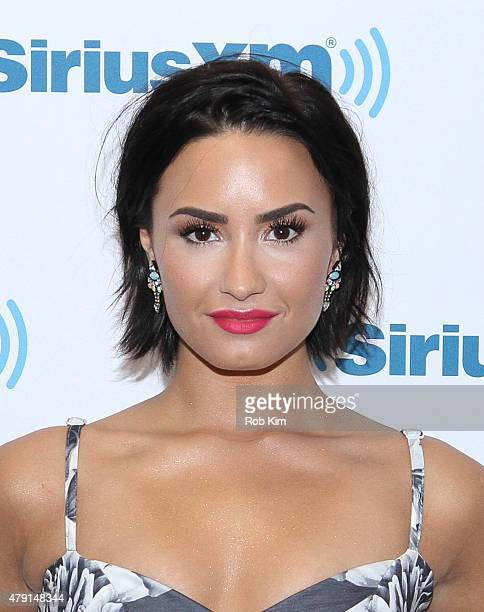 Demi Lovato visits at SiriusXM Studios on July 1 2015 in New York City