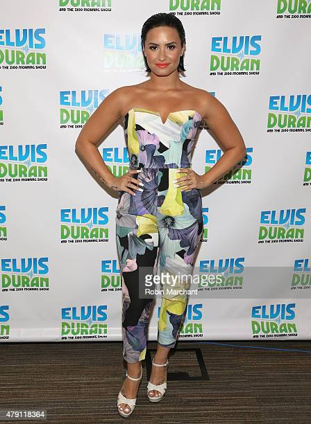 Demi Lovato visits 'The Elvis Duran Z100 Morning Show' at Z100 Studio on June 25 2015 in New York City