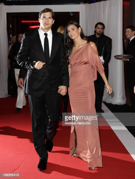 Demi Moore and Ashton Kutcher attend the red carpet for the PlusCity Charity Gala at PlusCity on October 29 2010 in Pasching near Linz Austria