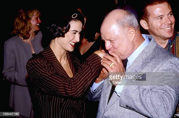 Demi Moore and Don Rickles during Lester Cohen Archives in Los Angeles California United States