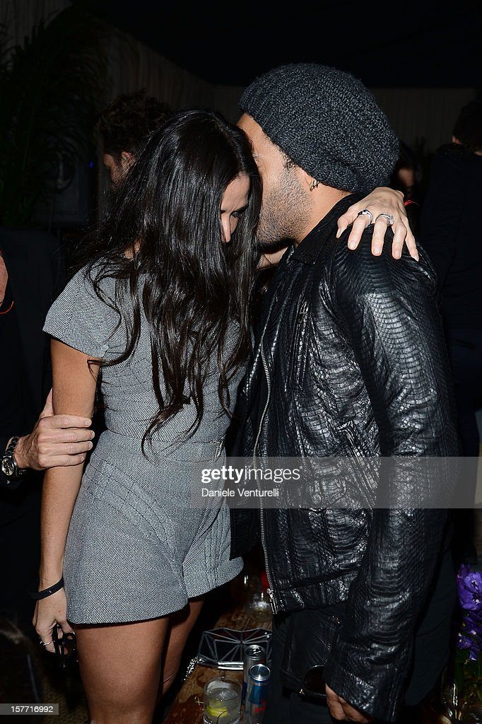 Demi Moore and Lenny Kravitz attend Chanel beachside BBQ celebrating Art.sy at Soho Beach House on December 5, 2012 in Miami Beach, Florida.