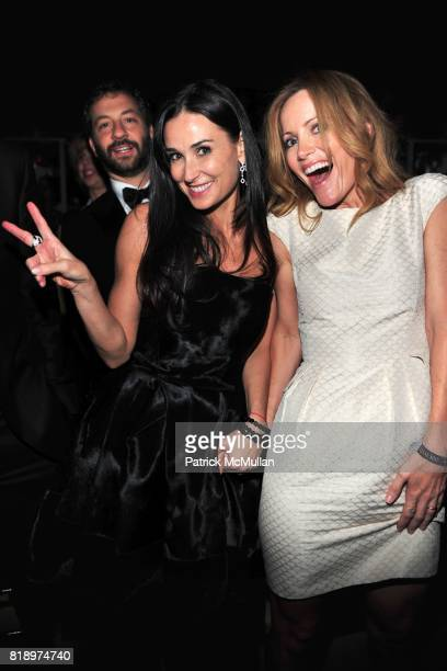 Demi Moore and Leslie Mann attend TIME 100 at Frederick P Rose Hall on May 4 2010 in New York City