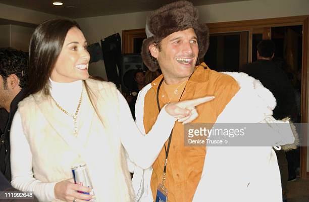 Demi Moore and Phillip Bloch during 2004 Park City Levi's Hosts 'Butterfly Effect' Dinner at Levi's House in Park City Utah United States