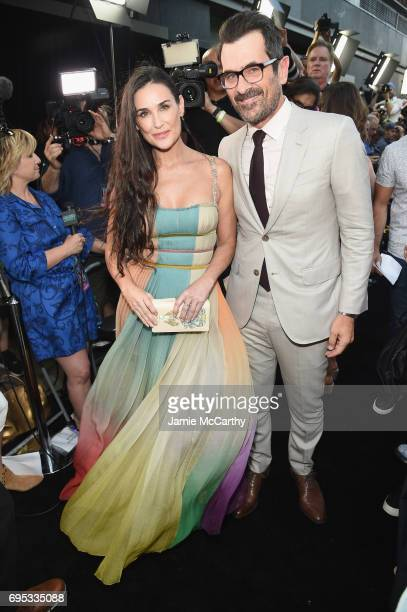 Demi Moore and Ty Burrell attend New York Premiere of Sony's ROUGH NIGHT presented by SVEDKA Vodka at AMC Lincoln Square Theater on June 12 2017 in...