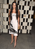 Demi Moore arrives at the Hammer Museum's 'Gala In The Garden' Honoring Joni Mitchell And Mark Bradford at Hammer Museum on October 11 2014 in...