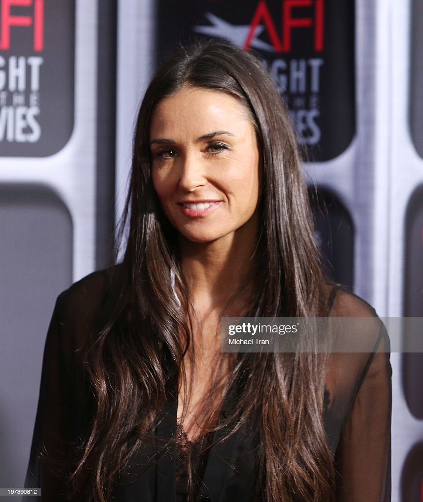 Demi Moore arrives at the Target presents AFI Night at the movies held at ArcLight Hollywood on April 24, 2013 in Hollywood, California.