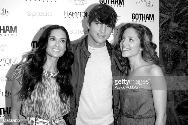Demi Moore Ashton Kutcher and Margarita Levieva attend 'SPREAD' Premiere with GOTHAM HAMPTONS magazines at UA East Hampton Theater on August 8 2009...