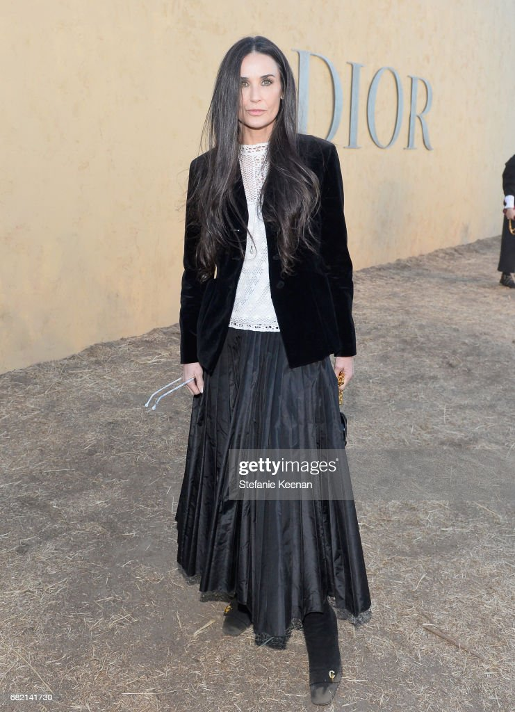 Demi Moore at Christian Dior Cruise 2018 Show and After Party at Gladstone's Malibu on May 11, 2017 in Malibu, California.