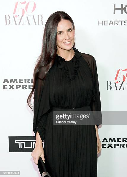 Demi Moore attends Harper's BAZAAR celebration of the 150 Most Fashionable Women presented by TUMI in partnership with American Express La Perla and...