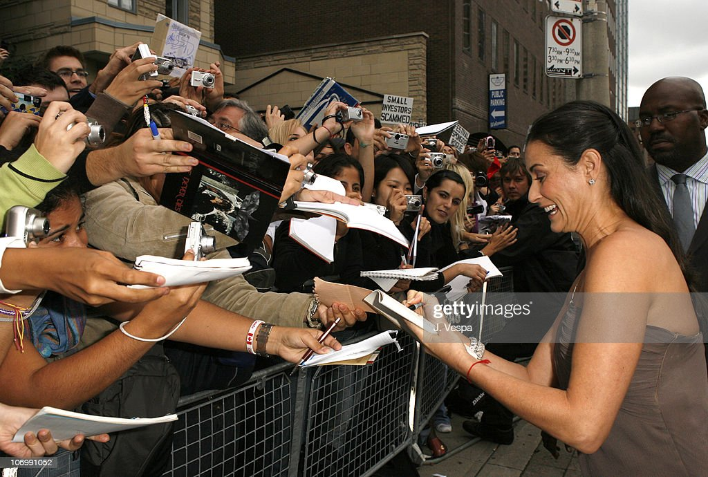 Demi Moore during 31st Annual Toronto International Film Festival - 'Bobby' Premiere - Red Carpet and Inside at Roy Thompson Hall in Toronto, Ontario, Canada.