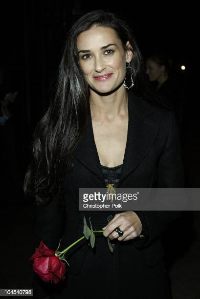 Demi Moore during PlayStation2 Guy Oseary's 30th Birthday Party in Beverly Hills California United States