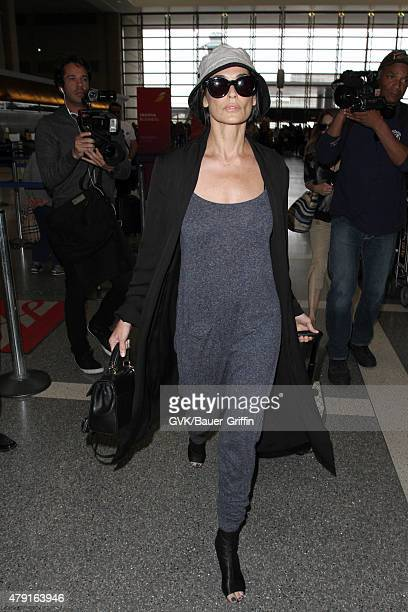 Demi Moore is seen at LAX on July 01 2015 in Los Angeles California