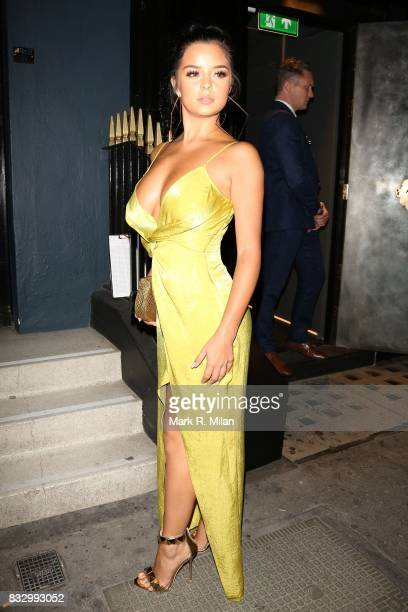 Demi Rose arriving at MNKY HSE on August 16 2017 in London England