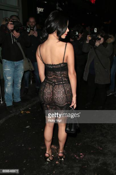 Demi Rose attends Sixty6 Magazine issue two launch party at Paper club on March 22 2017 in London England