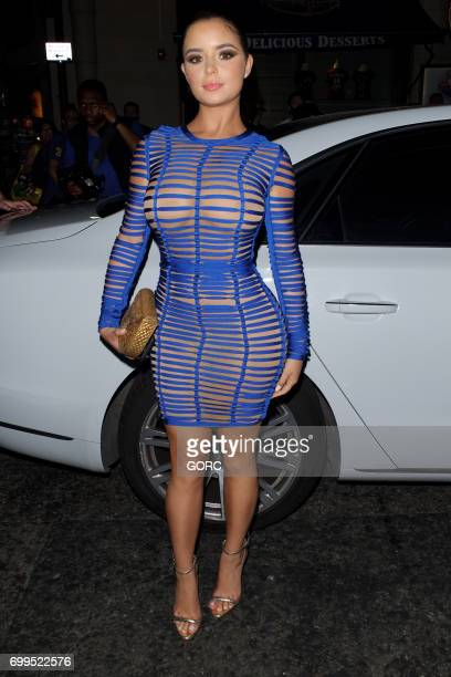 Demi Rose Mawby arriving at Sixty6 magazine launch party on June 21 2017 in London England