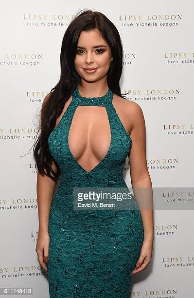 Demi Rose Mawby attends the launch of Michelle Keegan's new collection in collaboration with Lipsy at Nobu Berkeley on September 28 2016 in London...