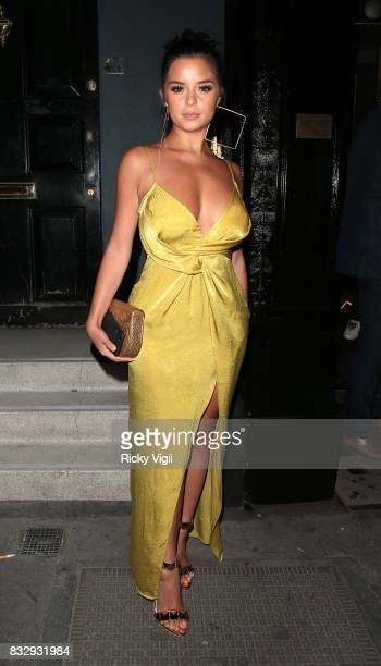 Demi Rose seen at MNKY HSE in Mayfair on August 16 2017 in London England