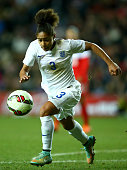 Demi Stokes of England in action during the Women's friendly International match between England and the USA at Stadium mk on February 13 2015 in...
