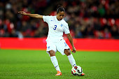 Demi Stokes of England in action during the Women's International Friendly match between England and Germany at Wembley Stadium on November 23 2014...
