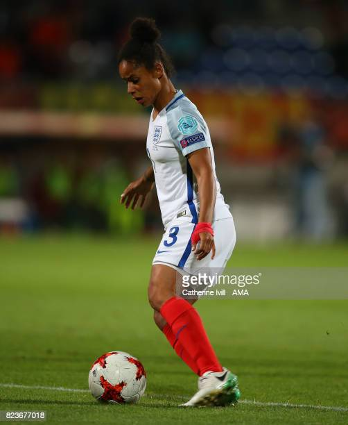 Demi Stokes of England Women during the UEFA Women's Euro 2017 match between Portugal and England at Koning Willem II Stadium on July 27 2017 in...