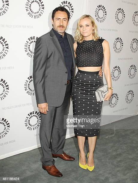Demian Bichir and Diane Kruger arrive at premiere screening of FX's 'The Bridge' held at The Paley Center for Media on June 24 2014 in Beverly Hills...