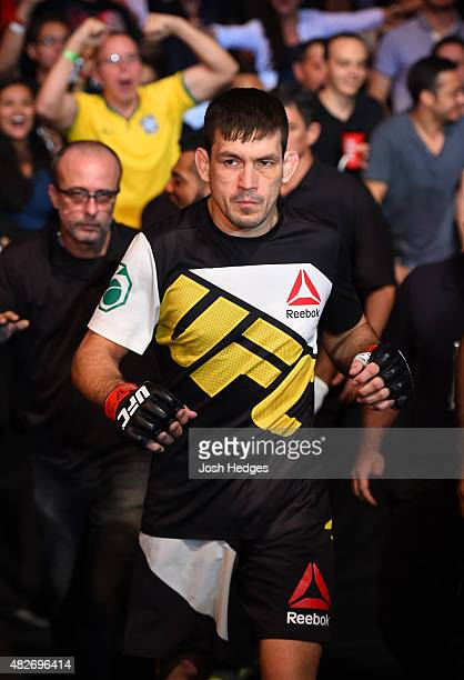 Demian Maia of Brazil prepares to enter the Octagon before facing Neil Magny of the United States in their welterweight bout during the UFC 190 event...