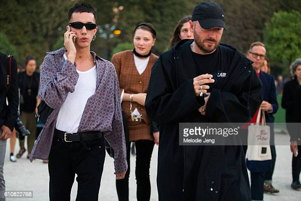 Demna Gvasalia Vetements designer after Jacquemus at the Tuileries on September 27 2016 in Paris France