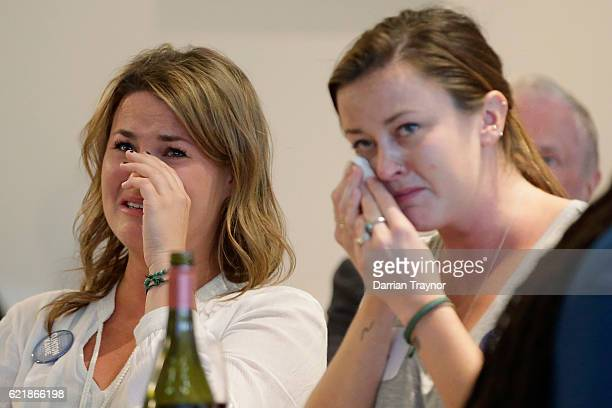 Democrat voters react to the election result at a 'Democrats Abroad' event on November 9 2016 in Melbourne Australia Americans have gone to the polls...