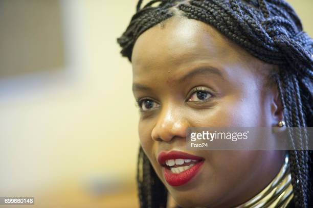 Democratic Alliance National Spokesperson and Member of Parliament Phumzile Van Damme poses for a portrait during an interview on June 14 2017 in...