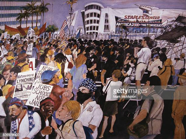 Democratic Convention Protest Staples Center Los Angeles by Franklin McMahon