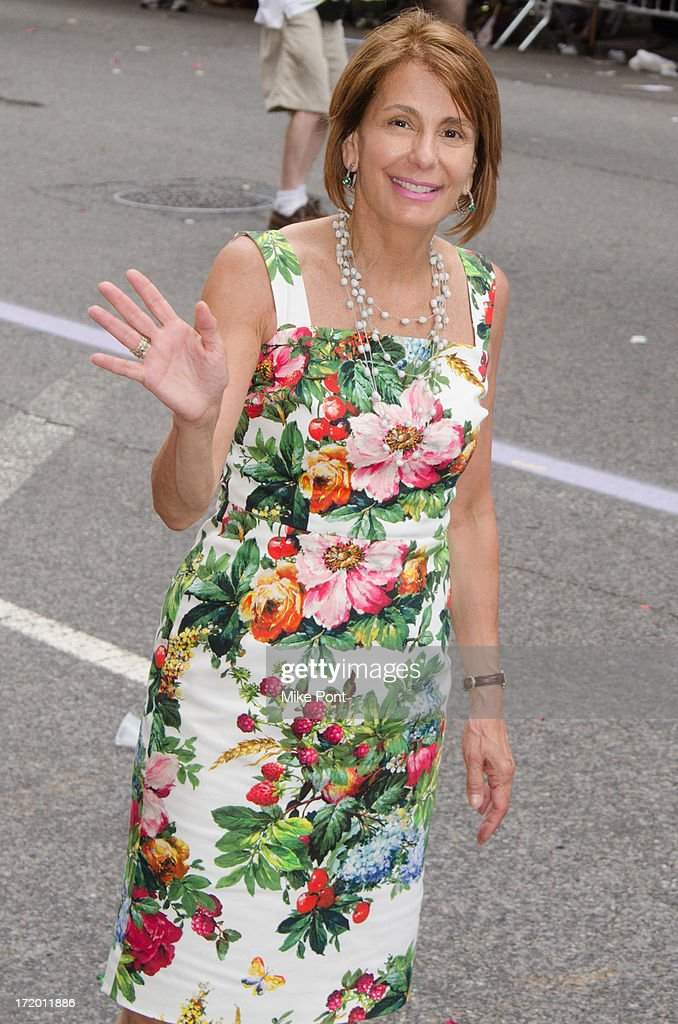 Democratic Gubernatorial Candidate Barbara Buono attends The March during NYC Pride 2013 on June 30, 2013 in New York City.